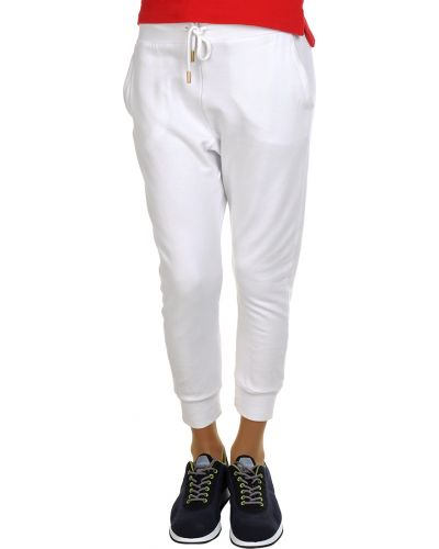 Спортивные брюки из вискозы белые Dsquared2