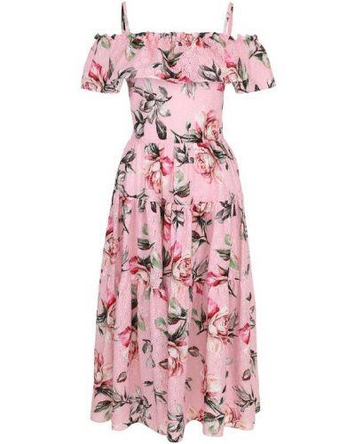 Платье миди мини приталенное с оборками Weill