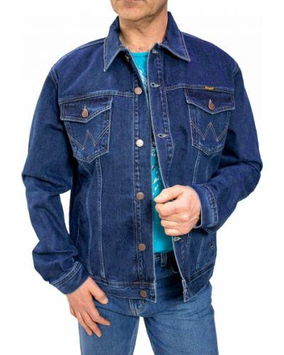 Джинсовая куртка на пуговицах - синяя Wrangler