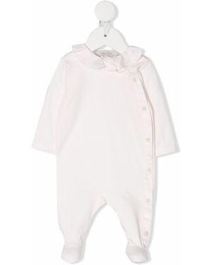 Piżama bawełniana z długimi rękawami z falbanami Baby Dior