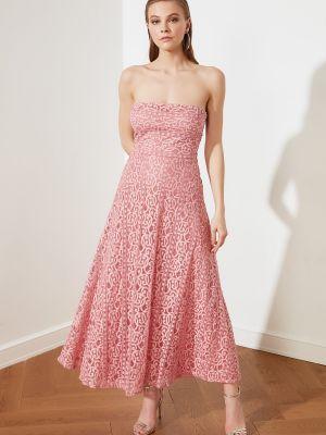 Sukienka wieczorowa bawełniana Trendyol
