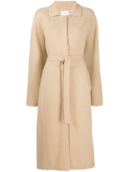 Шерстяное пальто с воротником с поясом на пуговицах Barrie