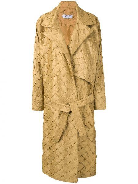Z rękawami pomarańczowy klasyczny długa kurtka z klapą Orange Culture