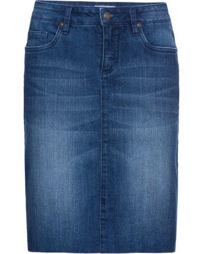 Синяя джинсовая юбка стрейч Bonprix