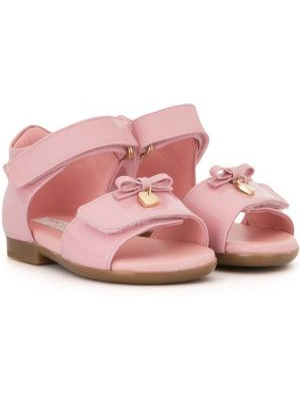 Розовые сандалии с бантом Dolce & Gabbana Kids
