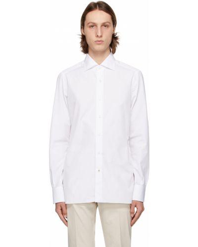 Biała koszula z długimi rękawami Isaia