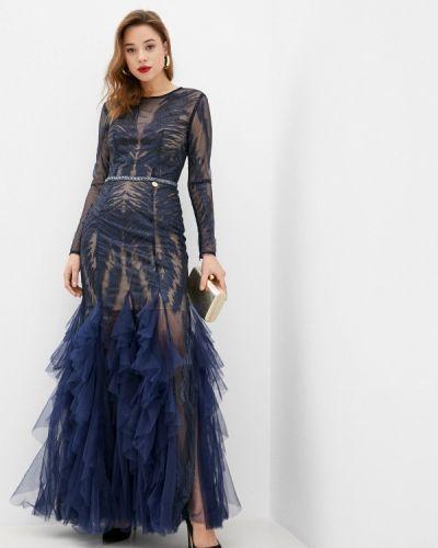 Синее вечернее платье Rich & Naked
