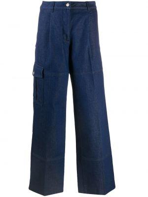 Синие с завышенной талией широкие джинсы свободного кроя Nina Ricci