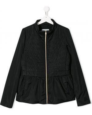 Черная длинная куртка Herno
