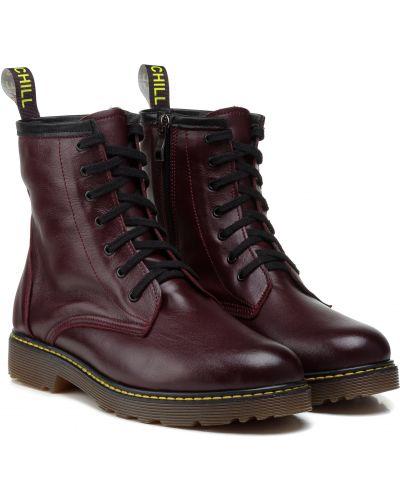 Ботинки - бордовые Aspena