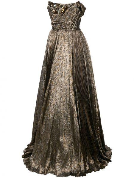 Платье в рубчик на молнии Oscar De La Renta