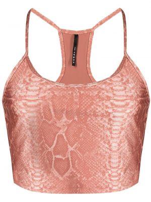 Укороченный розовый бюстгальтер с вырезом Koral