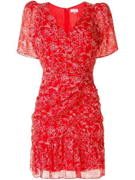 Платье с V-образным вырезом - красное Parker