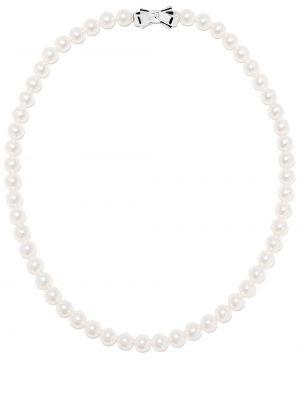 Srebro choker z perłami okrągły Tasaki