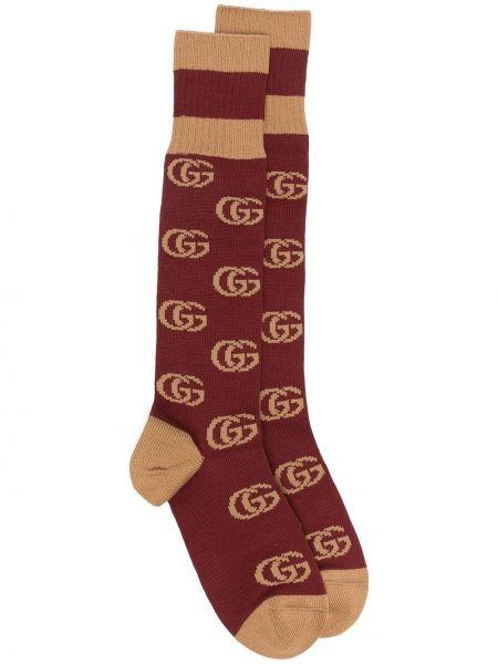 Beżowy bawełna bawełna skarpety z paskami Gucci