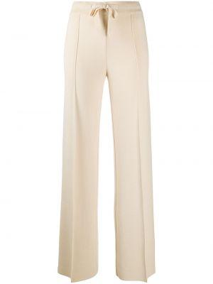 Прямые бежевые брюки с карманами Mrz