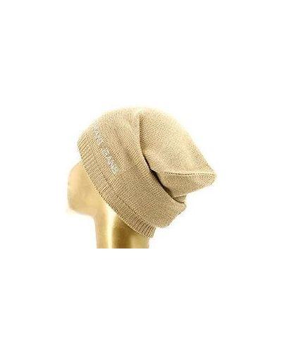 Коричневая шапка бини Armani Jeans