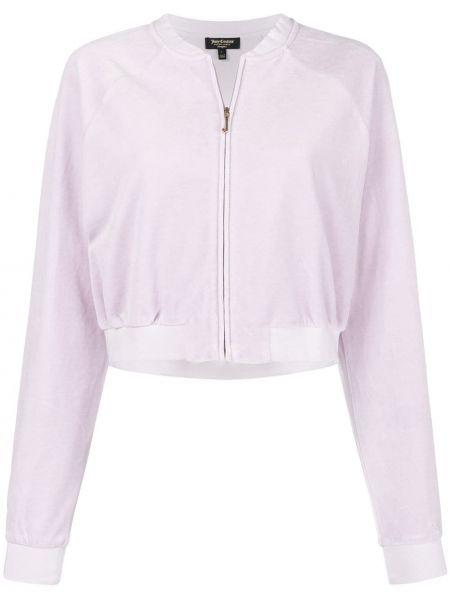 Велюровая розовая короткая куртка Juicy Couture