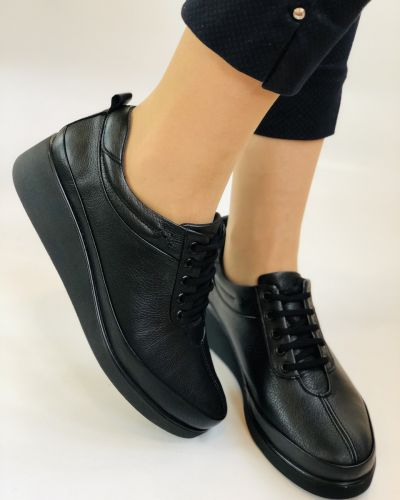 Кожаные туфли - черные Alvito