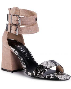 Beżowe sandały casual Supertrash