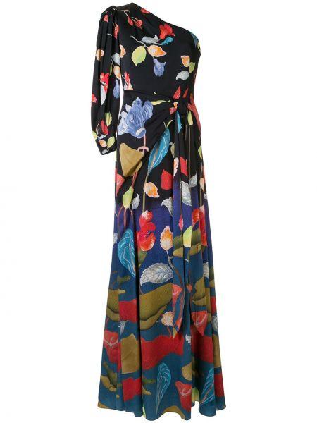 Платье на одно плечо с цветочным принтом Peter Pilotto
