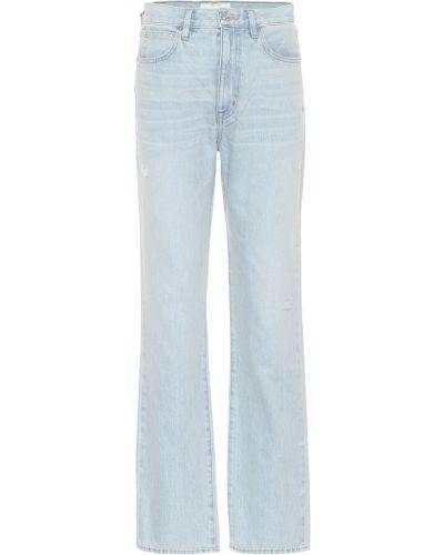 Ватные хлопковые синие прямые джинсы винтажные Slvrlake