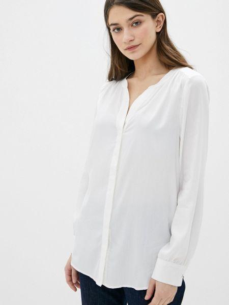 Оливковая блузка с длинным рукавом S.oliver