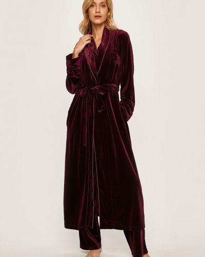 Фиолетовый бархатный халат Lauren Ralph Lauren