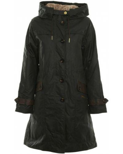 Czarny płaszcz Barbour