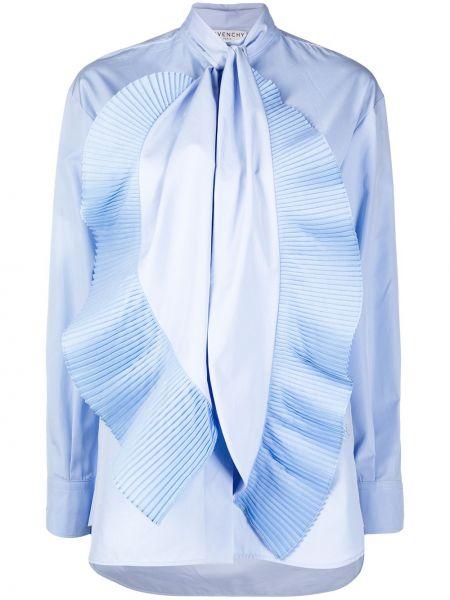 Niebieska koszula bawełniana z długimi rękawami Givenchy