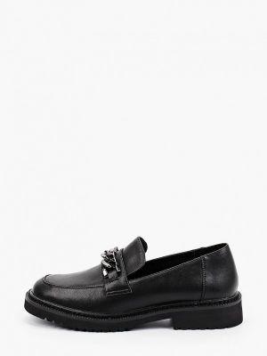 Черные кожаные лоферы Respect