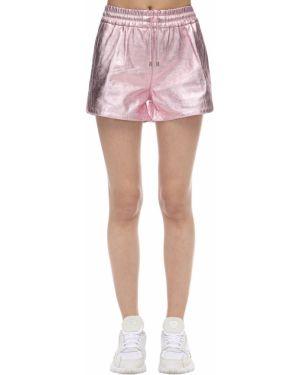 Однобортные розовые шорты с карманами металлические Coco Cloude