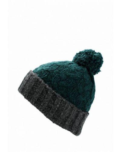 Зеленая шапка с помпоном Topshop