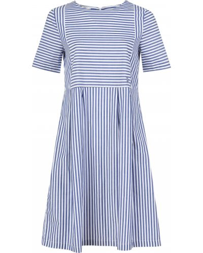 Хлопковое платье - синее Maerz
