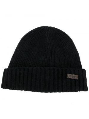 Шерстяная черная шапка бини Barbour