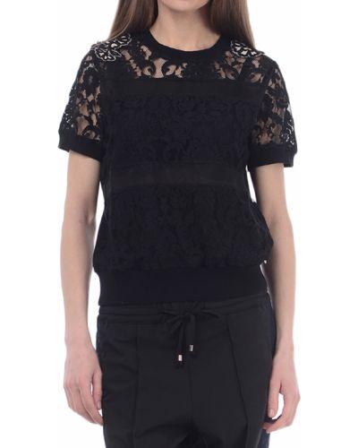 Блузка черная весенний Twin-set