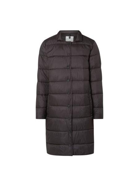 Czarny płaszcz pikowany Closed