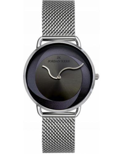Klasyczny czarny zegarek z siateczką Jordan Kerr