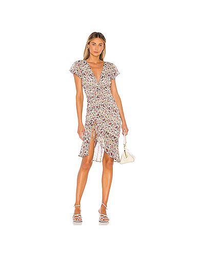 Платье миди шифоновое на пуговицах Majorelle