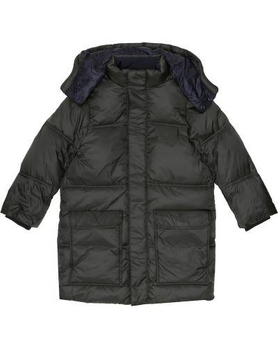 Czarny płaszcz Emporio Armani Kids