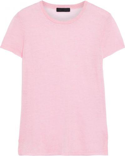Z kaszmiru prążkowany różowy t-shirt Atm Anthony Thomas Melillo
