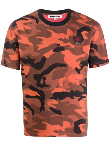 Koszula krótkie z krótkim rękawem prosto kamuflaż Mcq Alexander Mcqueen