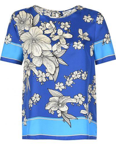 Блузка шелковая синяя P.a.r.o.s.h.