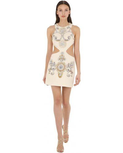 Шерстяное белое платье без рукавов Fausto Puglisi
