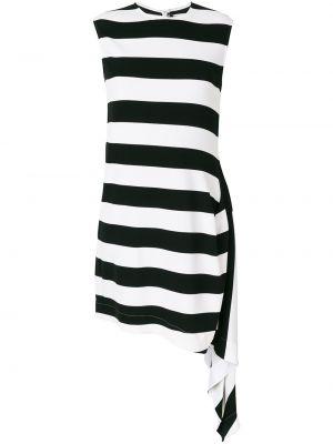 Czarna sukienka rozkloszowana w paski Calvin Klein 205w39nyc