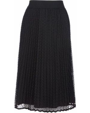 Плиссированная юбка черная Dkny