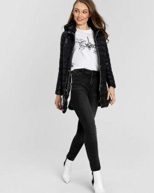 Нейлоновая черная куртка с капюшоном на молнии с нашивками Ostin
