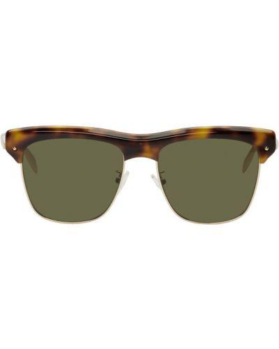 Okulary przeciwsłoneczne zielony czarny Alexander Mcqueen