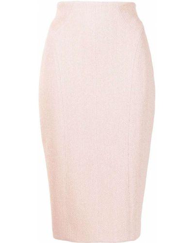 Хлопковая юбка миди - розовая Manning Cartell