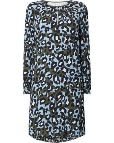 Sukienka rozkloszowana z długimi rękawami - zielona Lieblingsstück